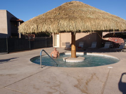 Hot tub at  Voyager Resort in Tucson.