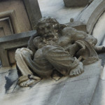 Gargoyle on the wall of the mansion