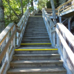 Start of the stairway to the top