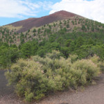 Sunset volcano crater - a 1000-foot cinder cone